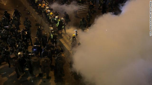 Police fire tear gas at protesters in Hong Kong after thousands take to the streets for the seventh consecutive weekend https://cnn.it/2JVxcpk