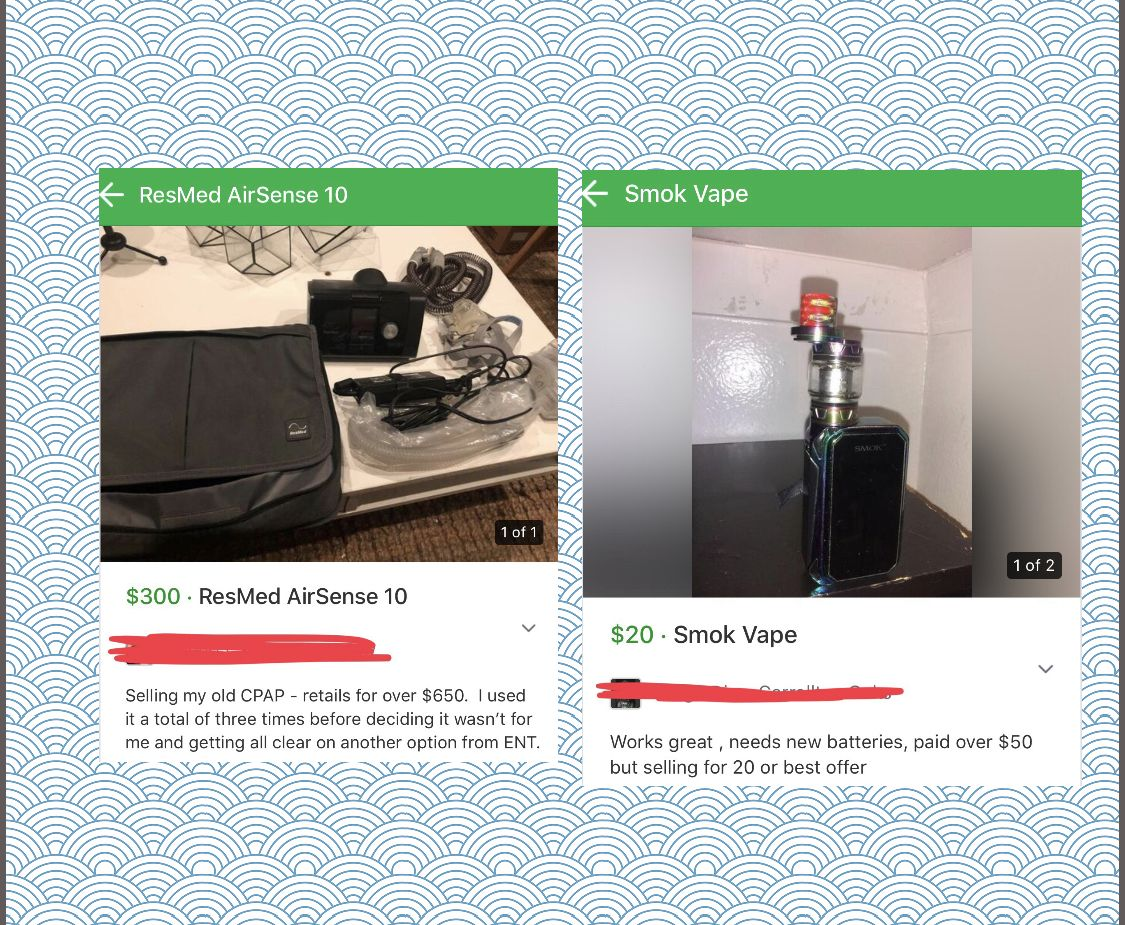 Who wants a used vape and cpap #forsale on #Nextdoor  Sure it's been in constant contact with your mouth or nose. You probably slobbered all over it. I'm sure, why not sell your germy stuff on #Nextdoor. Keep your bacteria to yourself!!! #NextdoorCrap #vape #smoking #snoring