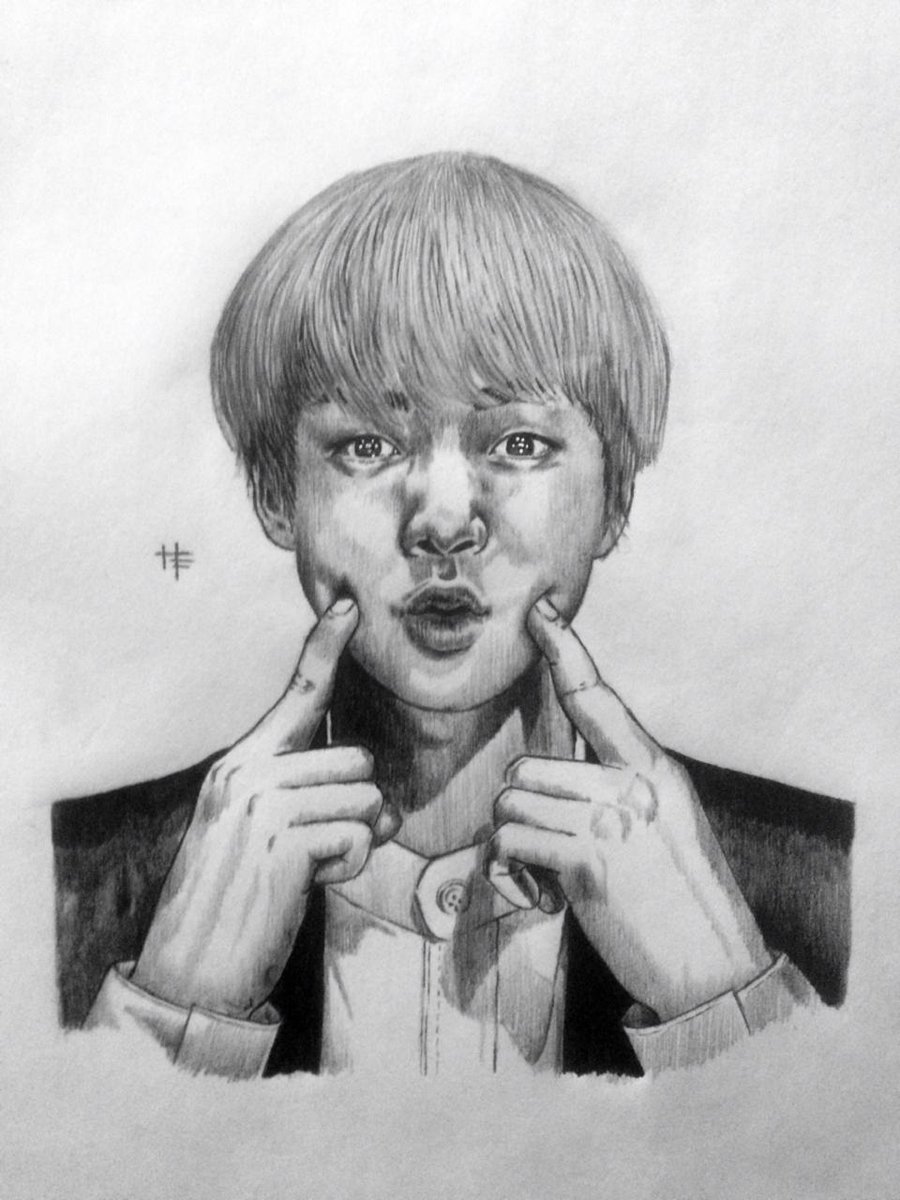 Jin Grupo Bts Bts Group Drawing Pencildrawing Pencil