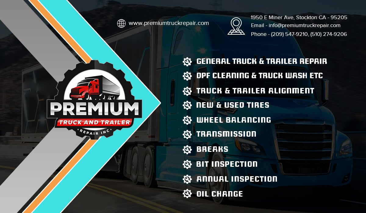 Premium Truck And Trailer Repair Inc  Services We Offer:  #Truckrepair #Trailerrepair #Brakes, #OilChange, #AnnualInspection, #TruckTrailerAlignment #Tires #WheelBalancing #Transmission  #stockton #SanJose #SanFrancisco #Morada #Manteca #SanAndreas #lockeford  #california