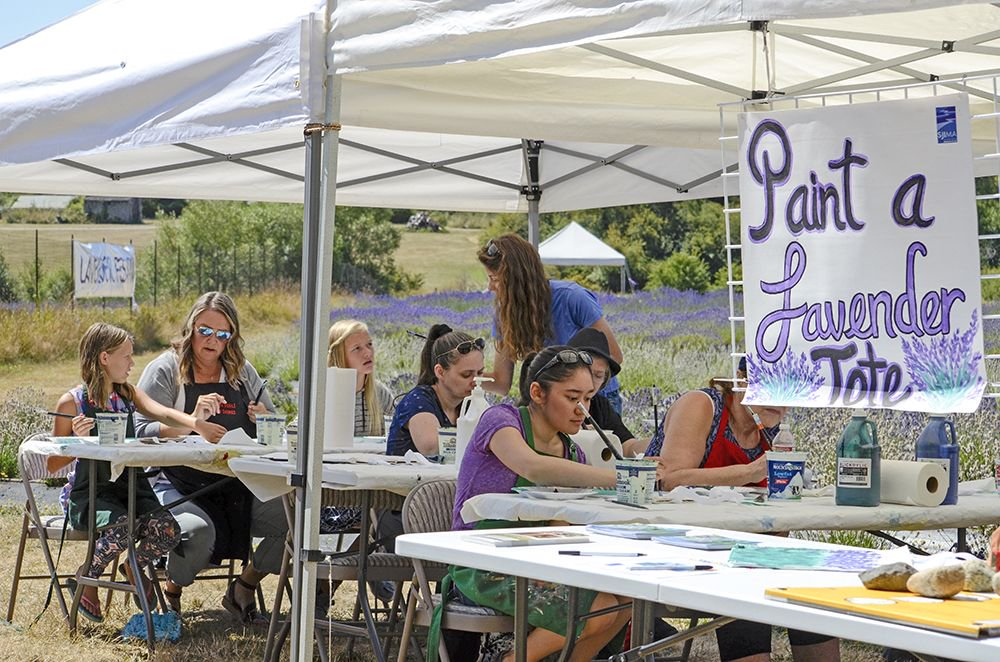 Did you miss the craft workshop yesterday? It's open all afternoon (3-5pm) with all kinds of activities! Be sure to stop by for some handcrafting fun! @visitSJIslands #sanjuans #lavenderfestival #sanjuanisland #fridayharbor #lavender #pnw #lavenderfarm