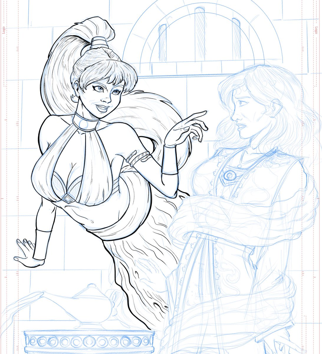And now, Inks  #art #illustration #comics #comicartist #inking #lineart #wip #fantasy #genie  #genieinabottle #aladdin  #pinup #cosplay<br>http://pic.twitter.com/TapD9gqQSv