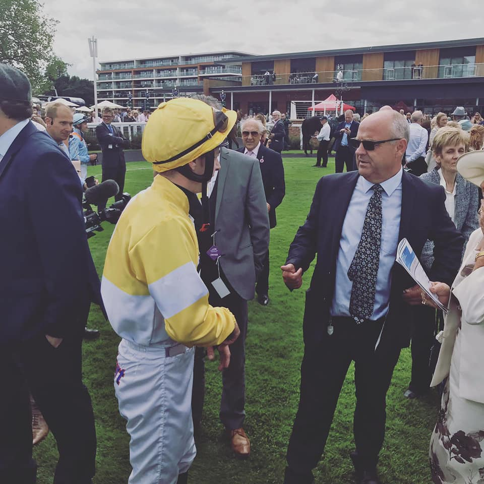 Huge thanks to @NewburyRacing & @weatherbysltd for there superb hospitality yesterday. SHOW ME SHOW ME 2nd in the Super Sprint only beaten a head. Thank you @311_mathers @RichardFahey superb ride & training performance. We had 40 very happy owners provided for excellently.