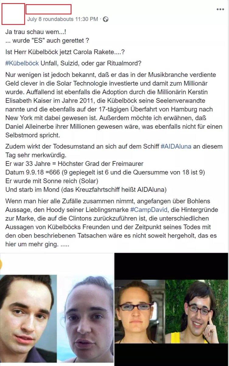 Carola Rakete Daniel Küblböck