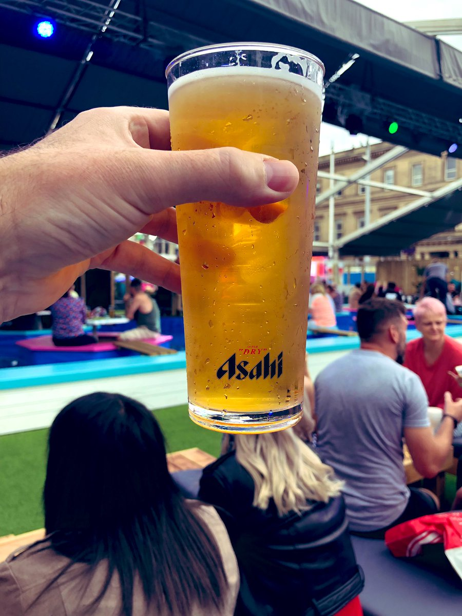 Popped in to the Playa Beach Club thing earlier. We were tempted to try @chef_laurence #food but he wasn't there. Restaurant was dead. Shame. Half decent pint of #asahi #lager tho' and makes for good people watching.