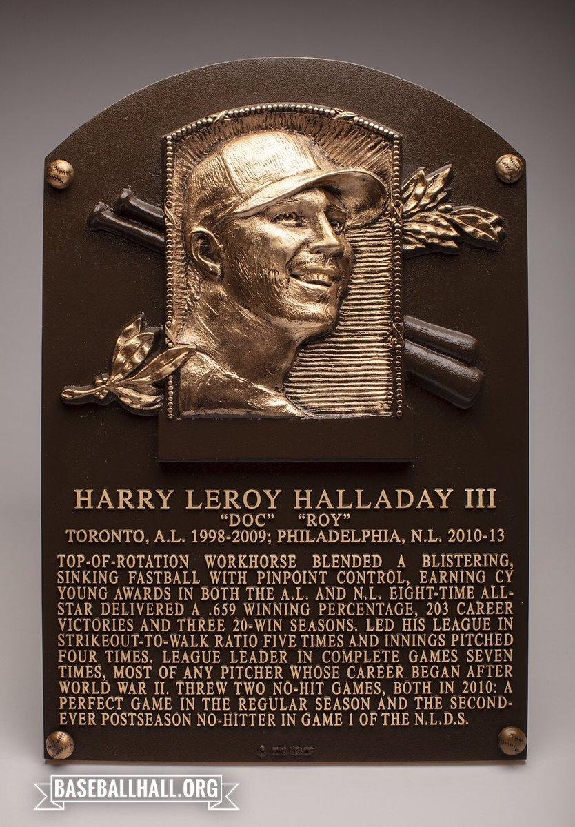 RT @baseballhall: Welcome to baseball immortality, Roy Halladay. @BlueJays @Phillies #DocHOF #HOFWKND https://t.co/hMTkS08ash
