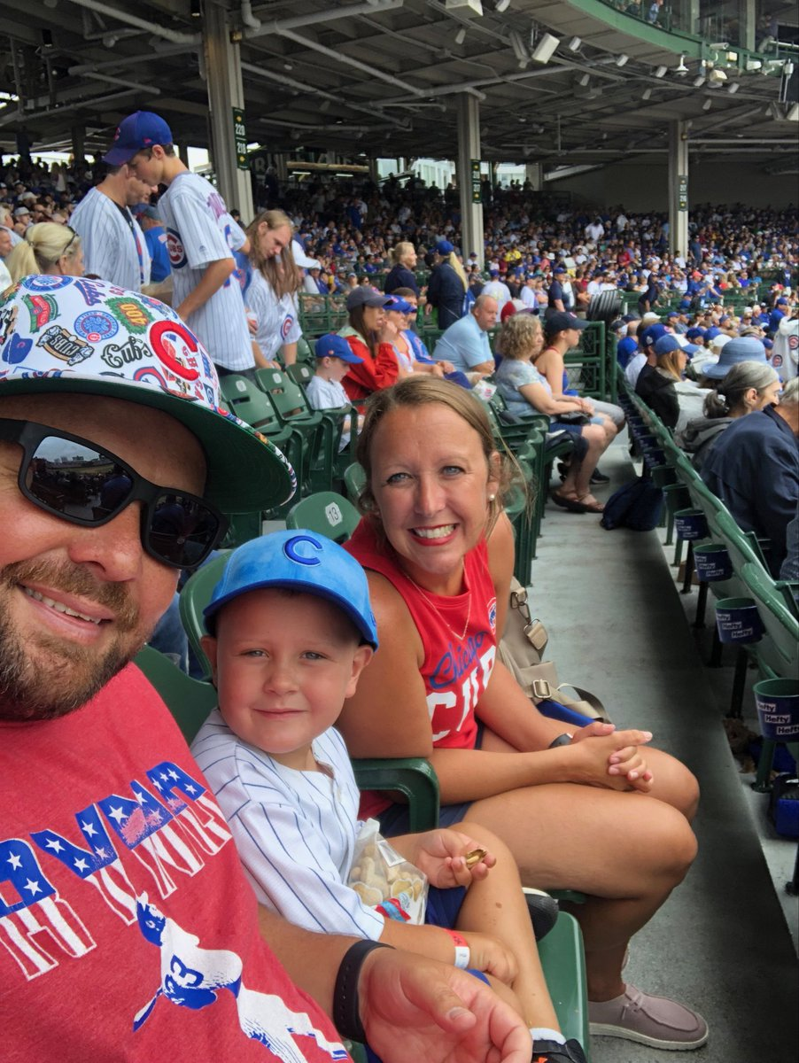 We are ready for Carter's first @Cubs game! #EverybodyIn  <br>http://pic.twitter.com/QBXxIjXvCs