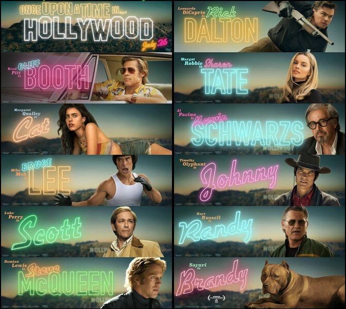 New ONCE UPON A TIME IN HOLLYWOOD banners. #OnceUponATimeInHollywood<br>http://pic.twitter.com/hYn8KiNgAp