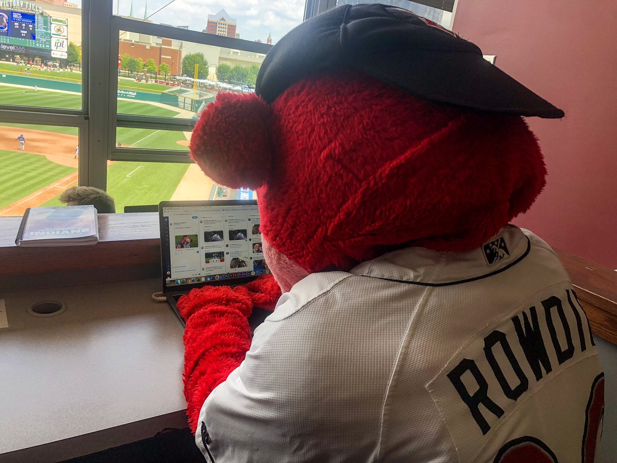 .@indyindians left their computer open. Tried to sneak in a tweet, but they caught me. 🤭