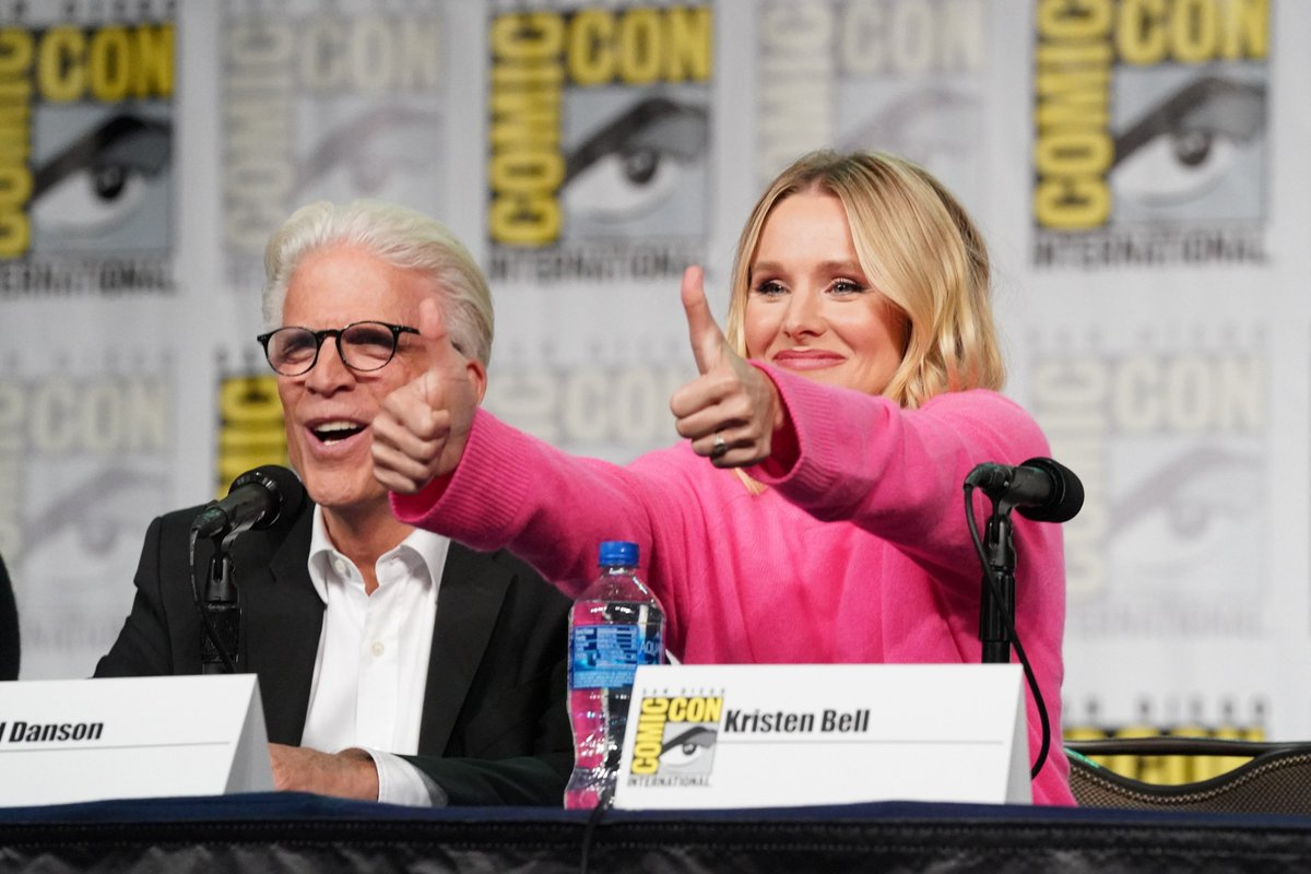 We love you forkers so...well, forking much! ❤️   Thanks to everyone who joined #TheGoodPlace at #SDCC.