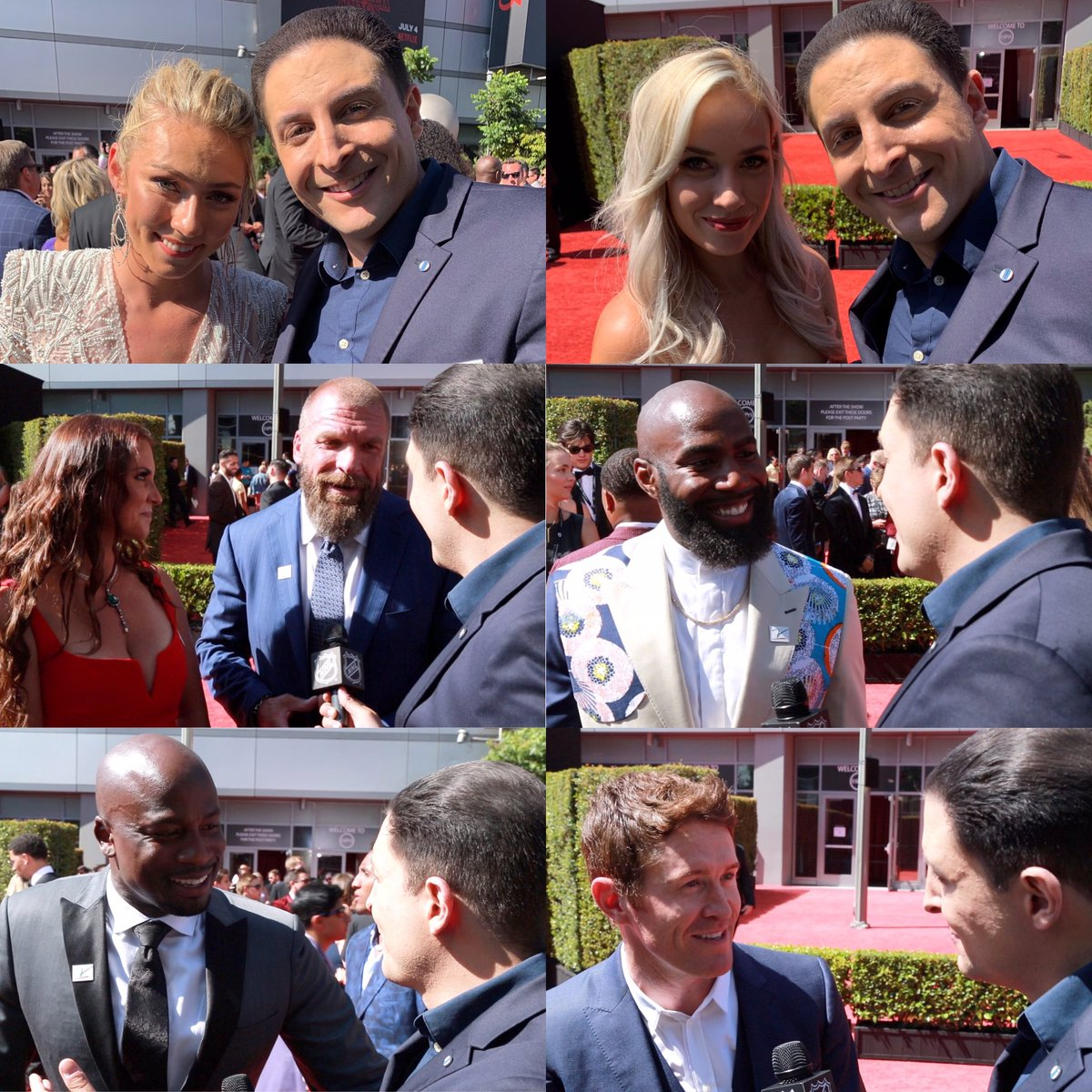 We had a lot of fun at the #ESPYS. Watch @ArthurKade's chats with @StLouisBlues  @JEdmundson3, @binnnasty, @TripleH, @WWERomanReigns, @Ninja, @MikaelaShiffrin, @MalcolmJenkins, @scottdixon9, @Akbar_Gbaja, @RealPaigeWWE, @brucebuffer & @Yesitschrismcd https://twitter.com/NHL/status/1152987853061853185 …