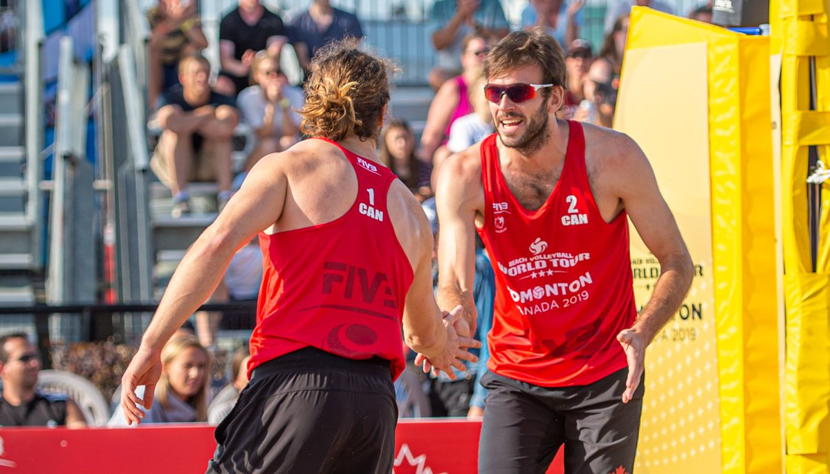 Catch some great beach VBall competition on the livestream. Cheer on 🇨🇦 #beachvolleyball