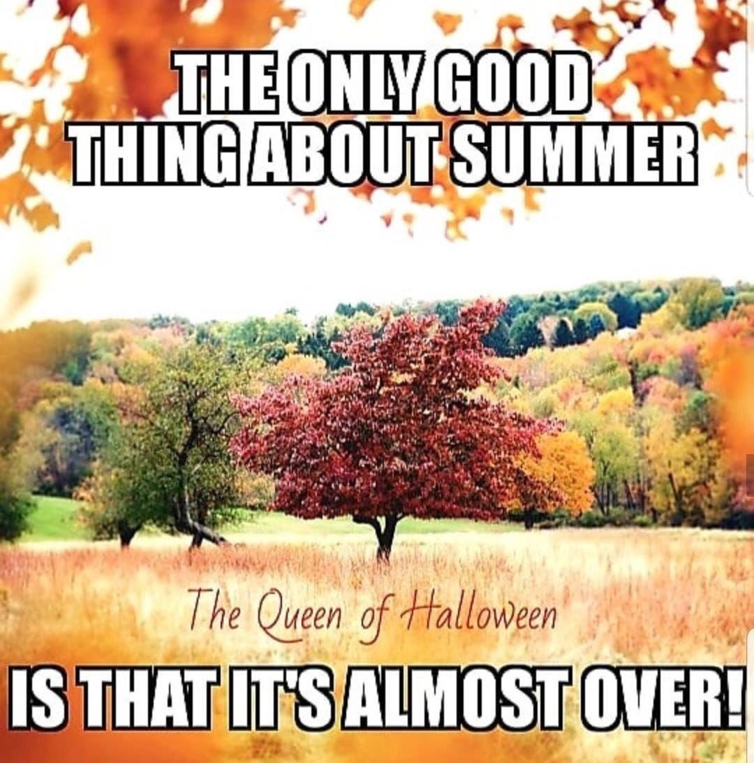 YASSS!!! I can't wait for Fall!!🎃🍂 #OverSummer #iHateSummer #BringOnFall #NicerWeather