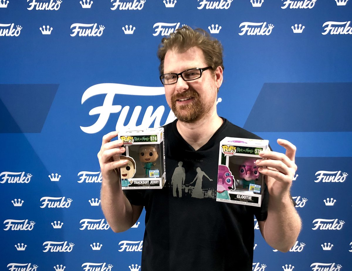 Wubba lubba dub dub!! #RickandMorty co-creator Justin Roiland just stopped by the Funko booth!! #SDCC #FunkoSDCC