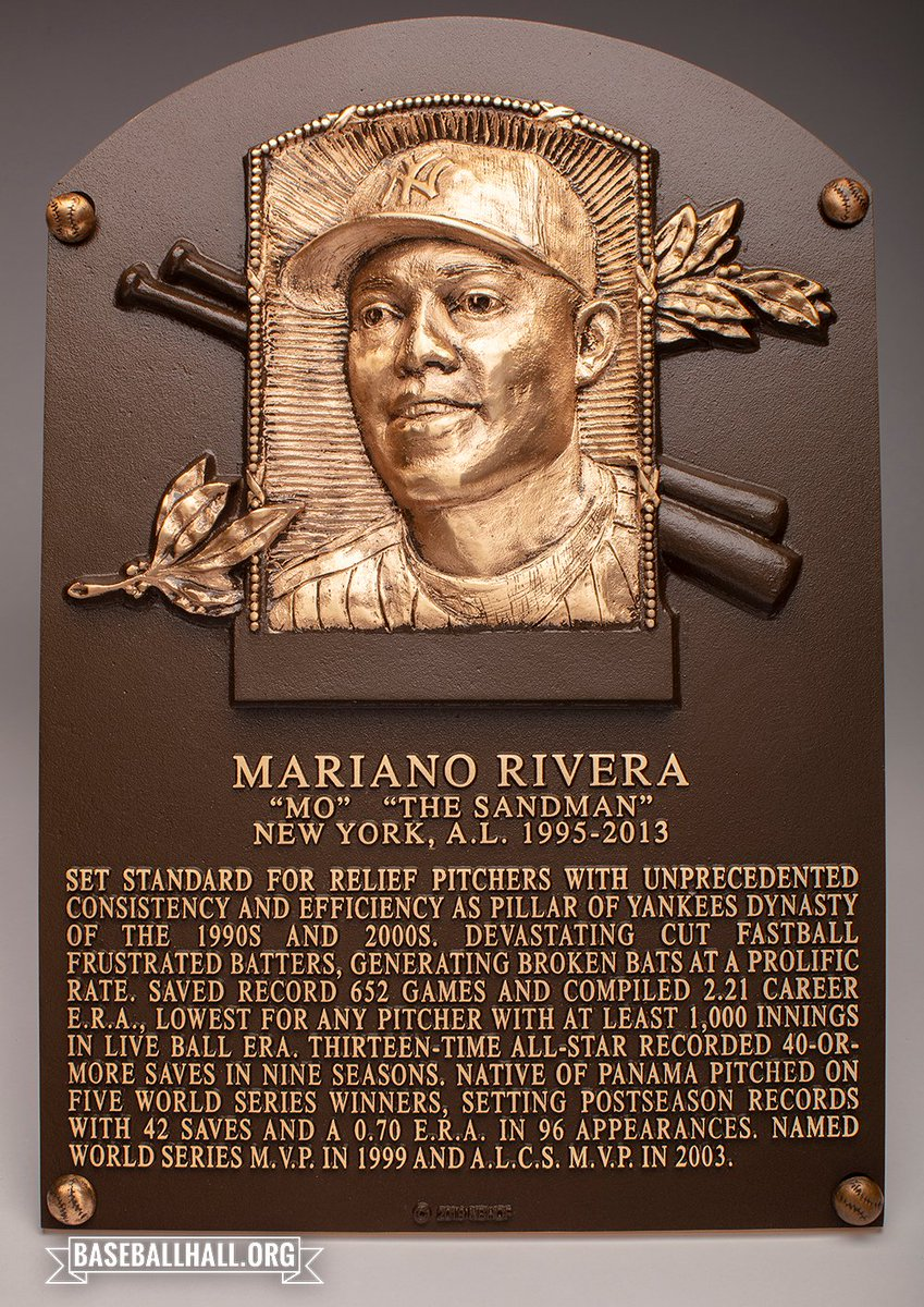 Welcome to baseball immortality, Mariano Rivera. @Yankees #HOFWKND
