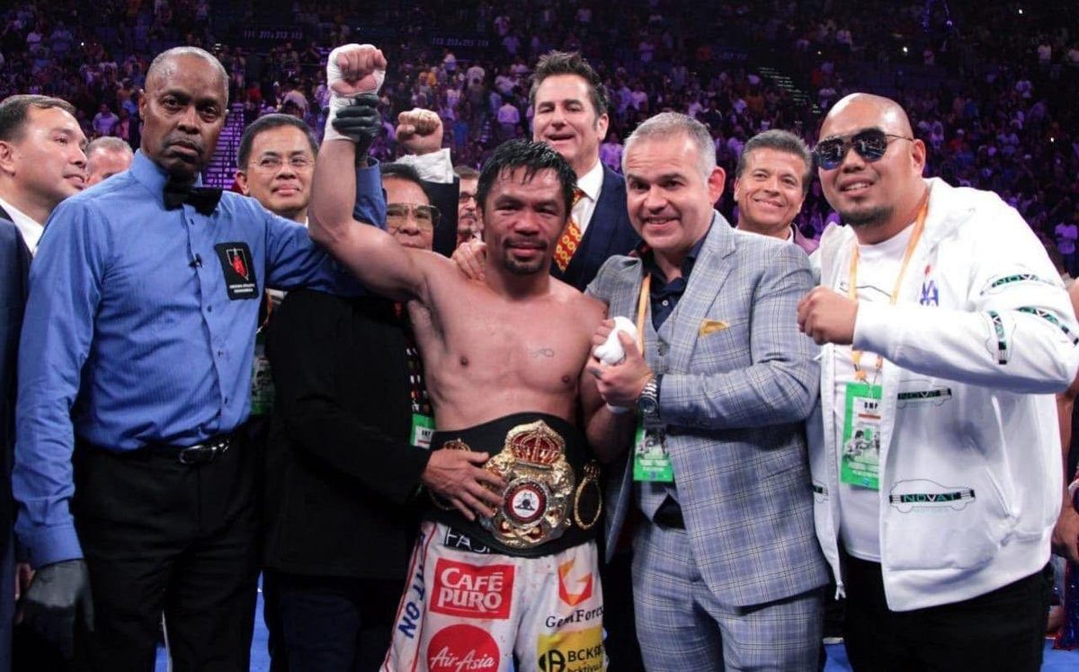 Age is just a number, there is no doubt. This was proved yesterday by @mannypacquiao, a living boxing legend. It is an honor to endorse these great battles and to have such great champions. Men who leave an indelible mark on this noble sport. #WBA #Boxing #PacquiaoThurman <br>http://pic.twitter.com/VYK4nZ0eFE