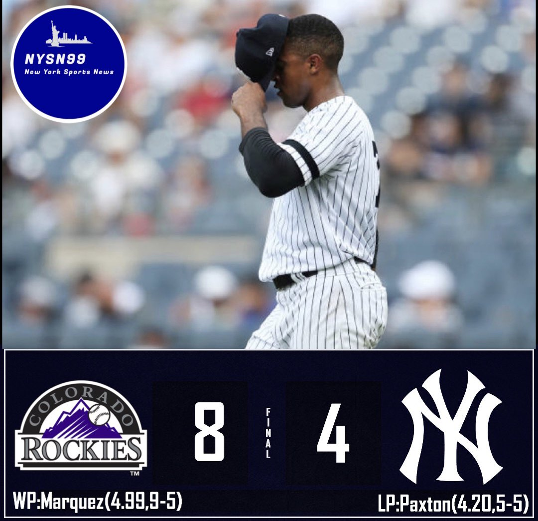 Yankees fall to the Rockies 8 to 4. Still got the series win