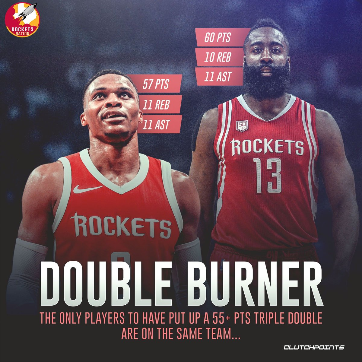 With two of the heaviest scorers in the league teaming up, expect bucket after bucket when next season 🔥  #Rockets #RunAsOne