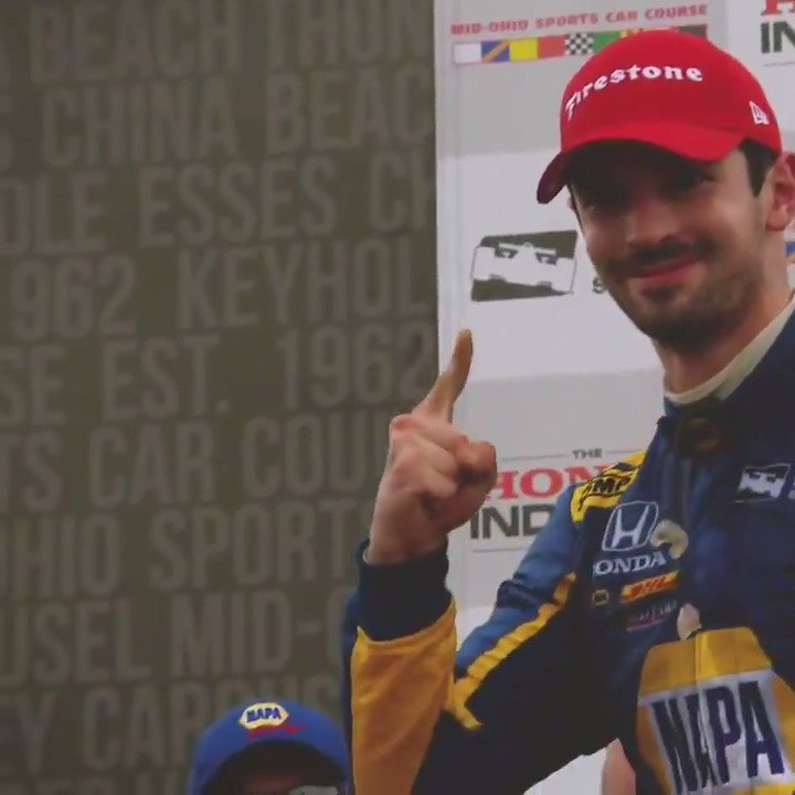 Its @IndyCar race week at @mid_ohio! The last time we were there, @AlexanderRossi used strategy to get ahead and take the win. A repeat could be what the @FollowAndretti driver needs to win his first championship with just five races left.