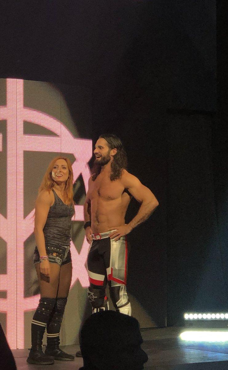 WWE Power Couple! @BeckyLynchWWE @WWERollins #wwe #wweorlando
