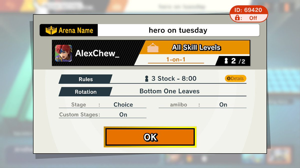 DUDE LOOK AT THE ID #SmashBros  #NintendoSwitch <br>http://pic.twitter.com/GoHcuKaQ0u