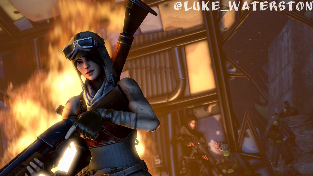 """""""Breach"""" I'm back making more art! Featuring two my characters, Renegade and Void. Enjoy. #Fortnite #Fortnitart<br>http://pic.twitter.com/sUztVwS3ab"""
