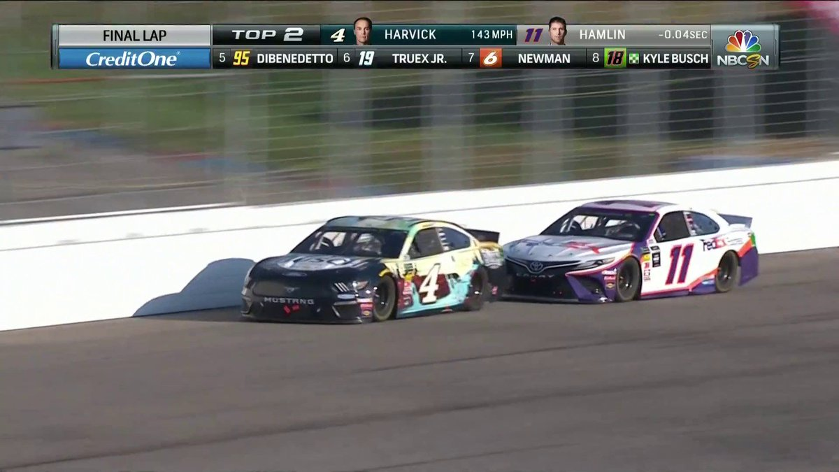Kevin Harvick scores first NASCAR Cup win of 2019 after thrilling battle with Denny Hamlin at New Hampshire