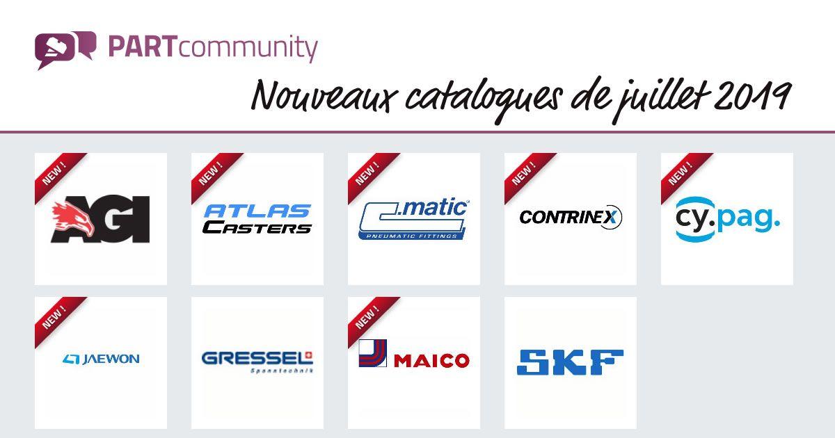 http://PARTcommunity.com : les nouveaux catalogues de juillet sont là 👇 #agi #altascasters  #cmatic @ContrinexUsa #cypag #jaewon #gressel #maico @SKFgroup