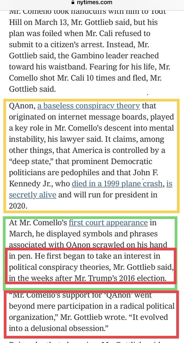 QAnon 21 Luglio 2019 - Semplice Q - NYT  Dirty Tactics - Q 21 July