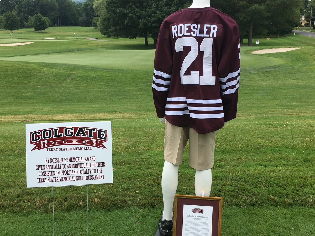 Thank you @ColgateMIH for honoring my dad this weekend. He was always so proud to be a Colgate student-athlete alumni. He'll forever be a Raider <br>http://pic.twitter.com/9p1j5kI2i0