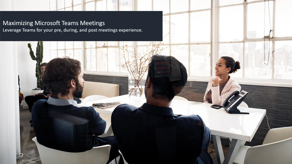 Maximizing #MicrosoftTeams Meetings: Leverage Teams for your pre, during, and post meetings experience with our instructor-led webinar. Register for our next session July 22, at 10amPT: http://msft.social/pUUYXy
