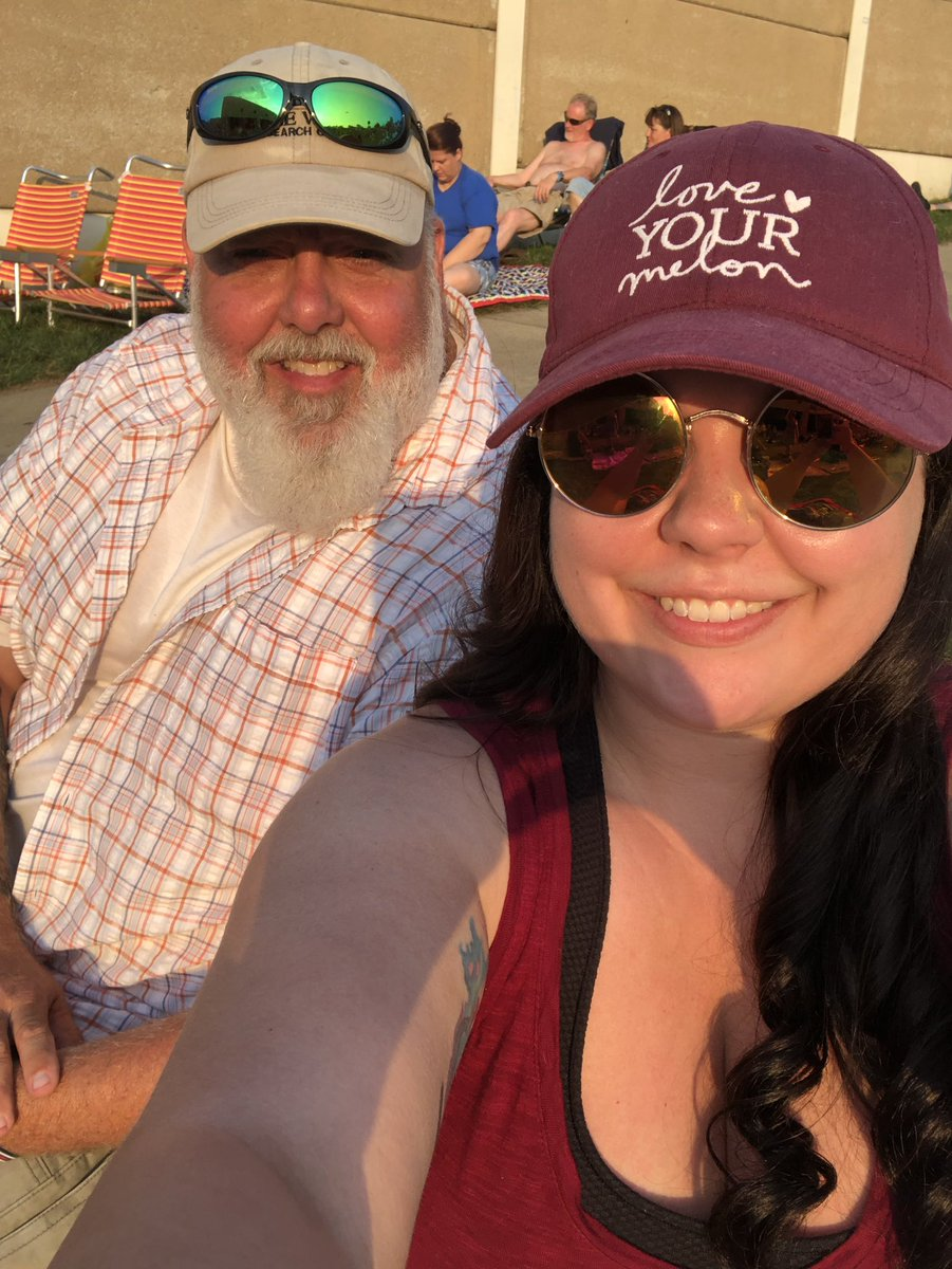 Dad's first country concert at @BBTPavilion to see @Jason_Aldean  & @kanebrown #happyfathersday