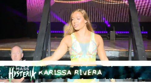 🚧 It's #WOMENofHONOR time now!  👩Tasha Steelz VS Karissa Rivera VS Angelina Love  #MassHysteria on #FITETV