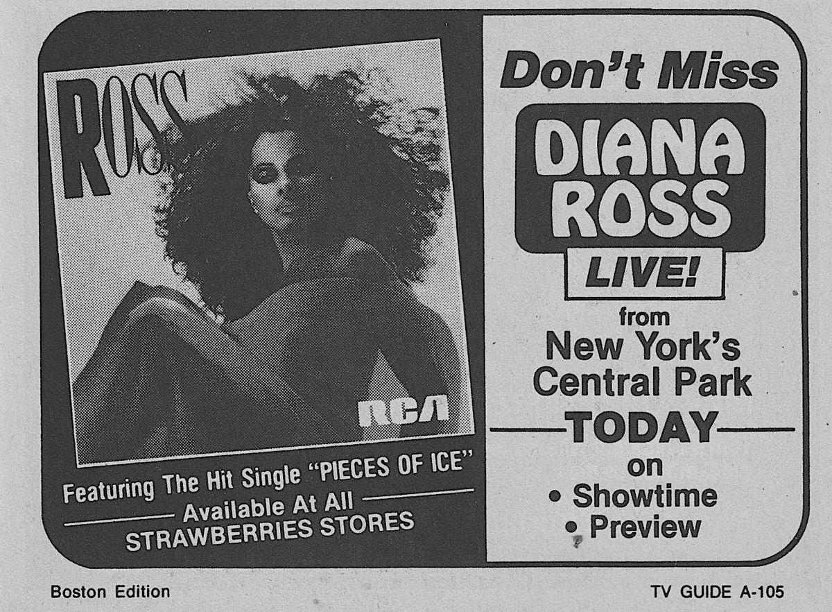 Primetime Television, July 21, 1983: — @DianaRoss live from Central Park <br>http://pic.twitter.com/SjgWnVGiHO
