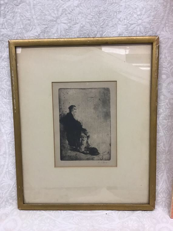 Excited to share this item from my #etsy shop: Sitting Gypsie by Adolf Jelinek Alex circa 1920 Etching - free shipping #art #printmaking #engraving #black #housewarming #framed #antique #vintage #fathersday https://buff.ly/2JvxKnt  https://buff.ly/2Up3ZdV