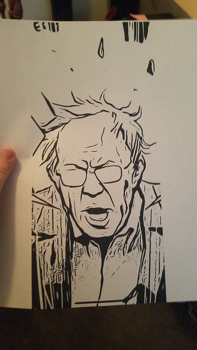 Finally replaced my black ink cartridge and look who came out  #FeelTheBern #Bernie2020<br>http://pic.twitter.com/4VYKEIgExR