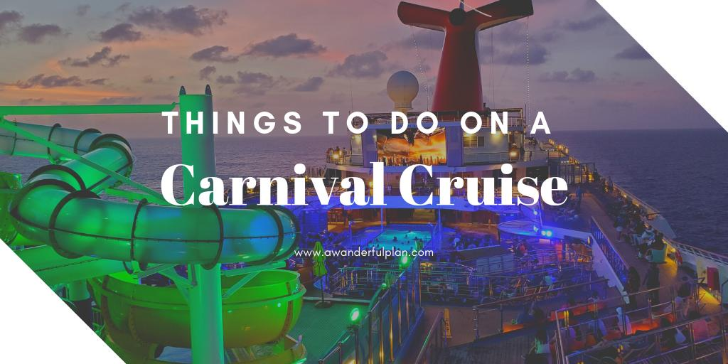 Have a day or two at sea on your Carnival cruise? Find out all the awesome relaxing and entertaining options available! #cruise #cruises https://awanderfulplan.com/things-to-do-on-a-cruise-ship/…