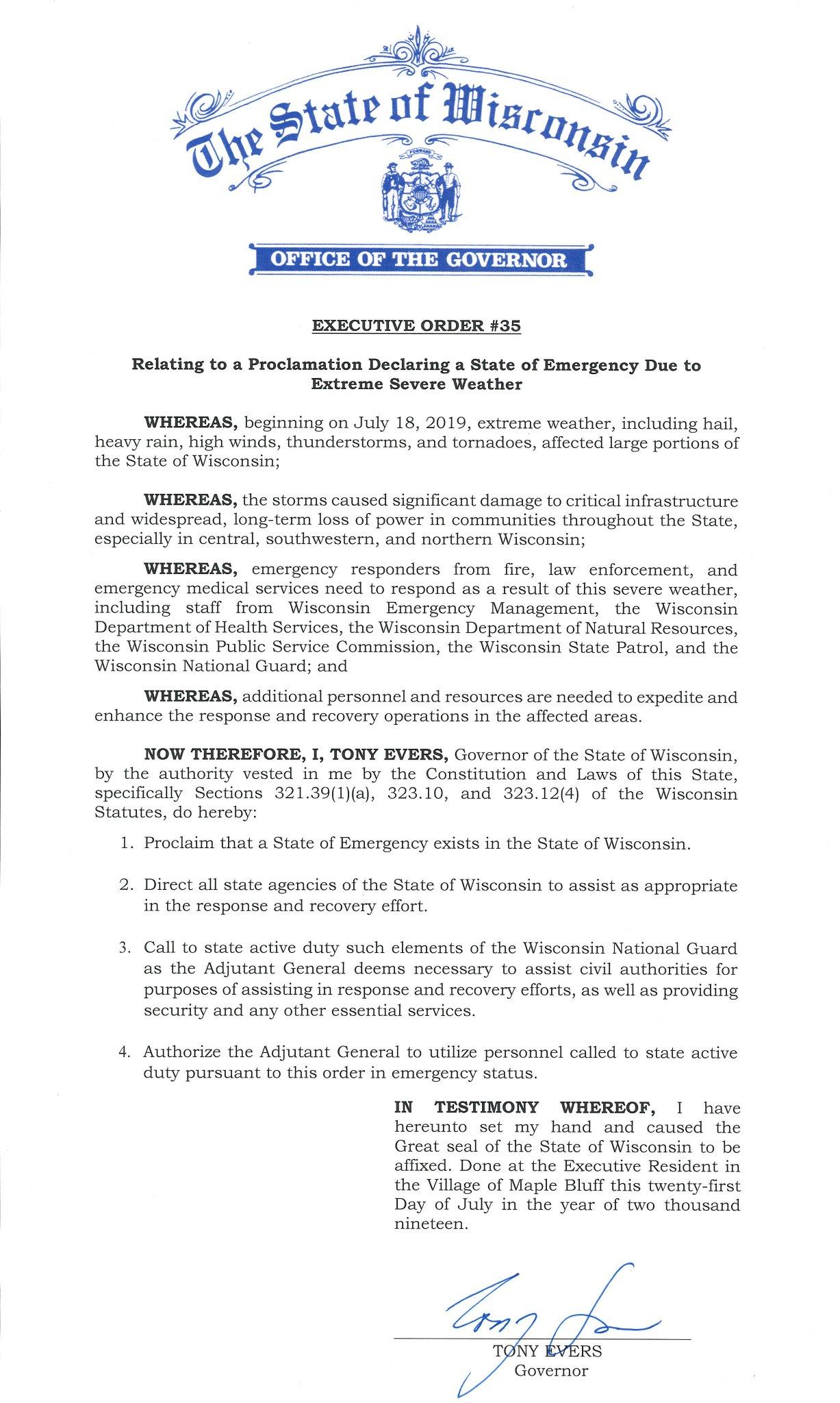 executive order 35