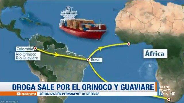 #PrimiciaRCN | Las nuevas rutas del narcotráfico con destino al continente africano noticiasrcn.com