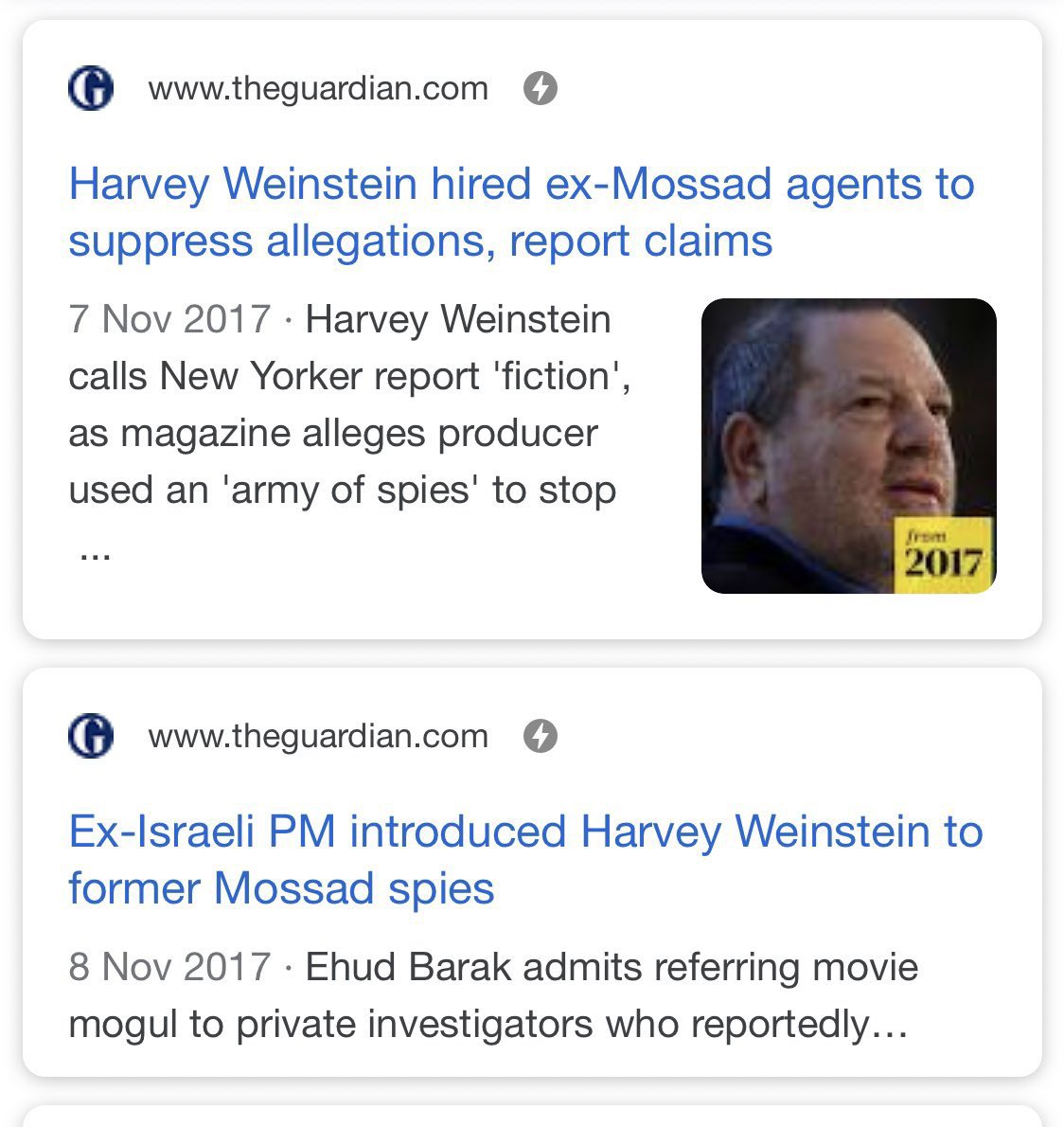 Remember it wasn't just #Epstein but also Weinstein that connections to Mossad and Israeli former PM Ehud Barack.
