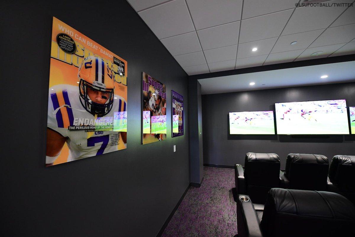 LSU Football has a revamped players lounge thanks to @Mathieu_Era 🐯(via @LSUfootball)