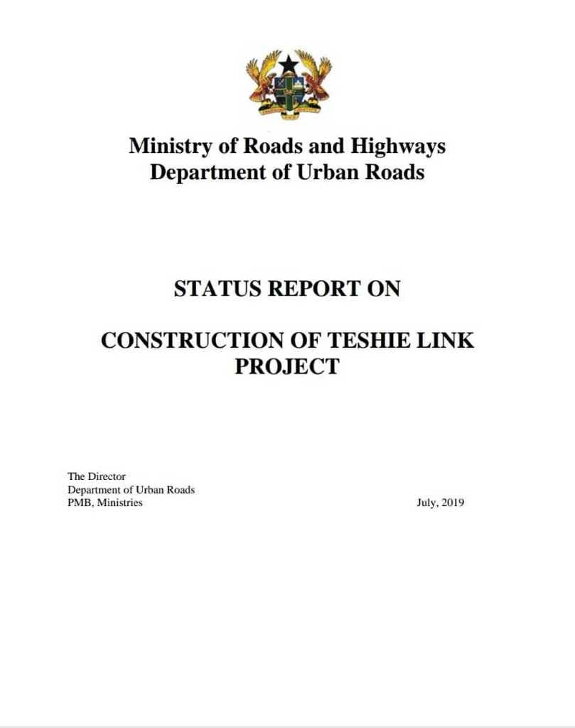 STATUS REPORT ON CONSTRUCTION OF TESHIE LINK PROJECT, #4More4Nana #TheChangeWeVotedFor<br>http://pic.twitter.com/5vC1DEKSmE