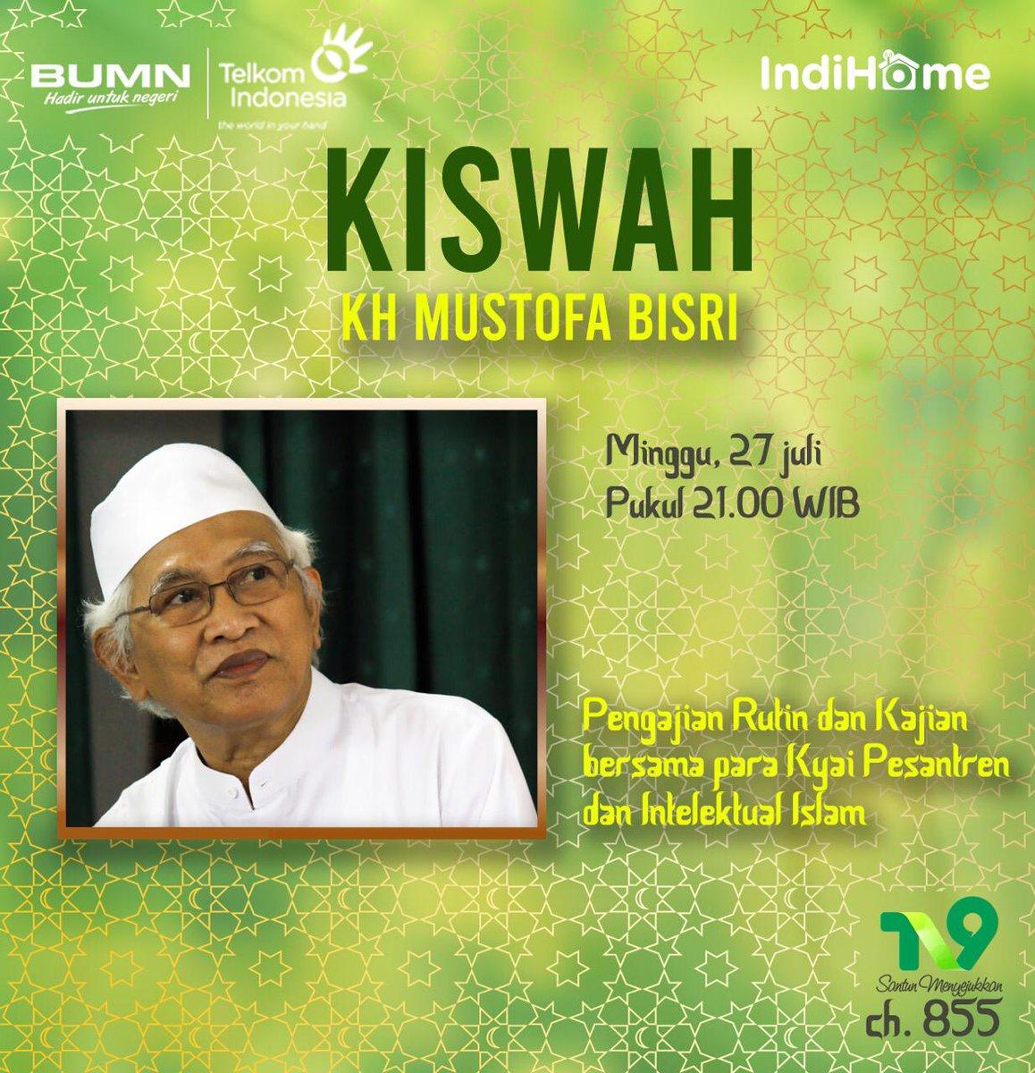 """Ikuti #KISWAHIndiHome bersama @gusmusgusmu """"Pengajian Rutin dan Kajian Bersama para Kyai Pesantren dan Intelektual Islam"""". Alhamdulillah ~ FR @TelkomIndonesia @TelkomCare @IndiHome @telkomsel"""