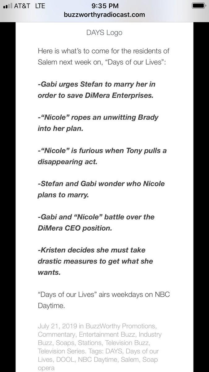 WTF is this can we please get Kristen's story be about Jarlena Eric Brady where are Nicole & Holly. Which writer thought of this DE bullshit. August better hurry up get here.  <br>http://pic.twitter.com/v9vxb2TFMt