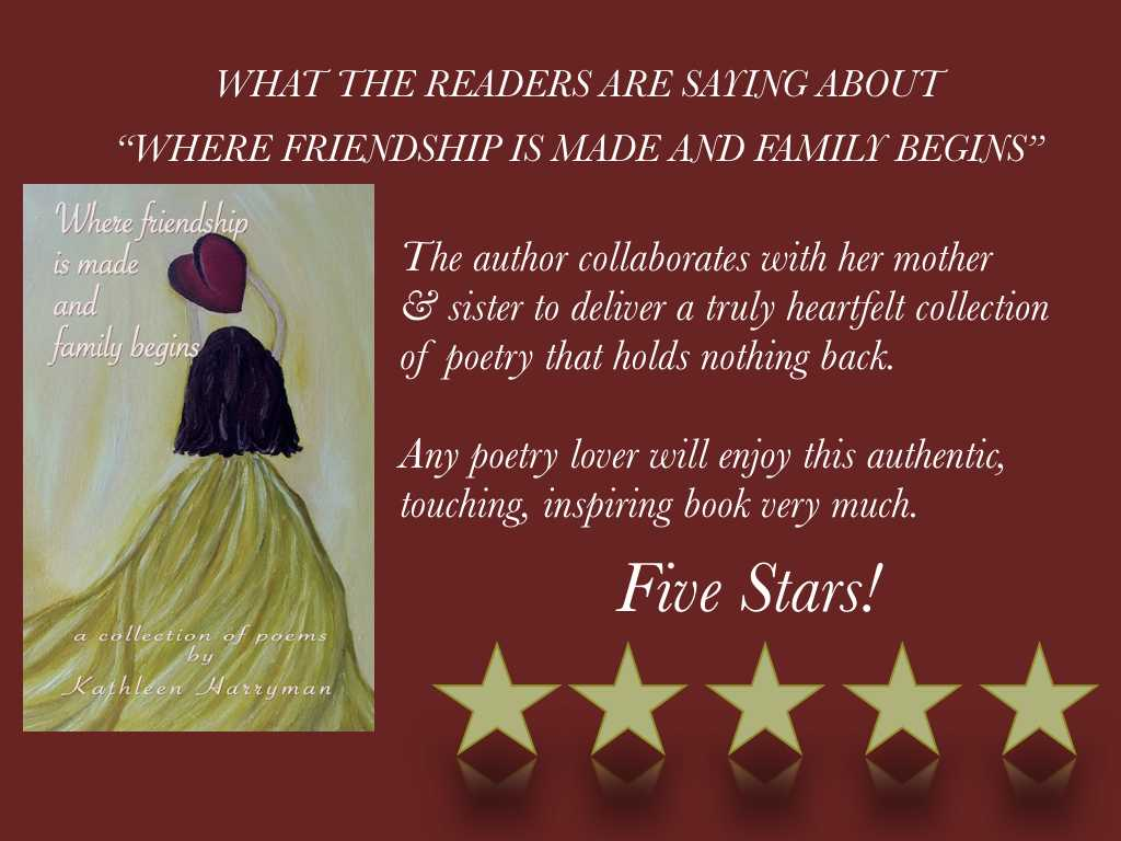 #RT #WhereFriendshipIsMadeAndFamilyBegins #Poetry that will take you on a beautiful journey. Raising money for #cancer http://mybook.to/FamilyBeginsPoetry… #NewRelease #poem #poet #amwriting #ASMSG #bookworm #BookBoost #charity #amazon #paperback #mustread #gr8books4u #IAN1 #goodreads #read