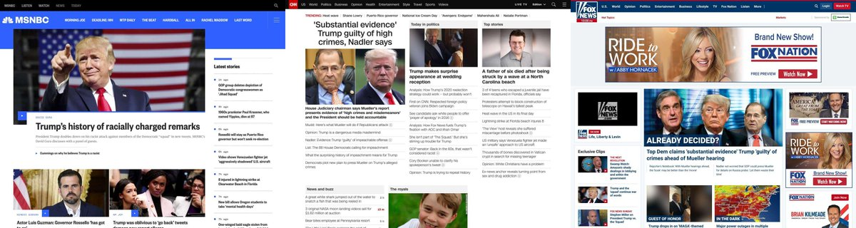 Compare the news side-by-side to see who's telling the whole story. Comment on bias or under-reporting. Share to support an informed democracy. #news #politics #media #msnbc #cnn #fox - Compare more at https://newscompare.com