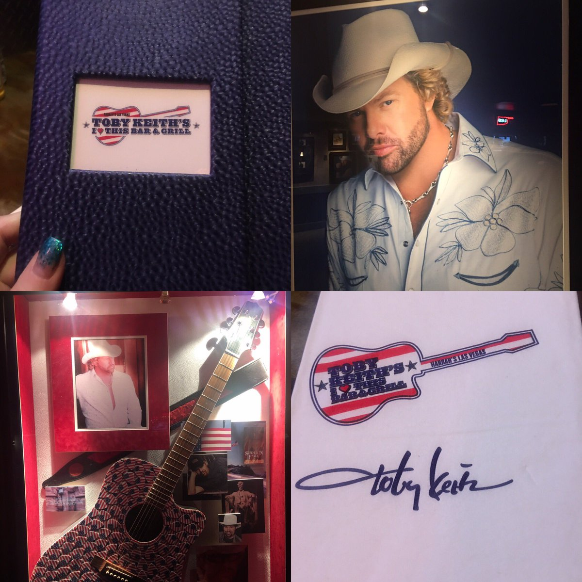 Check out Toby Keith's Bar & Grill in #Vegas 🎰 The sweet tea and fried pickles were great. Chicken fried steak and fried okra were fabulous! 🔴⚪️🔵 Love Southern Food! 🤠 @tobykeith @HarrahsVegas @TobyKeithBar #LasVegas #TobyKeith @LuckysLasVegas @VitalVegas @LasVegasLocally – at Harrah's Hotel & Casino