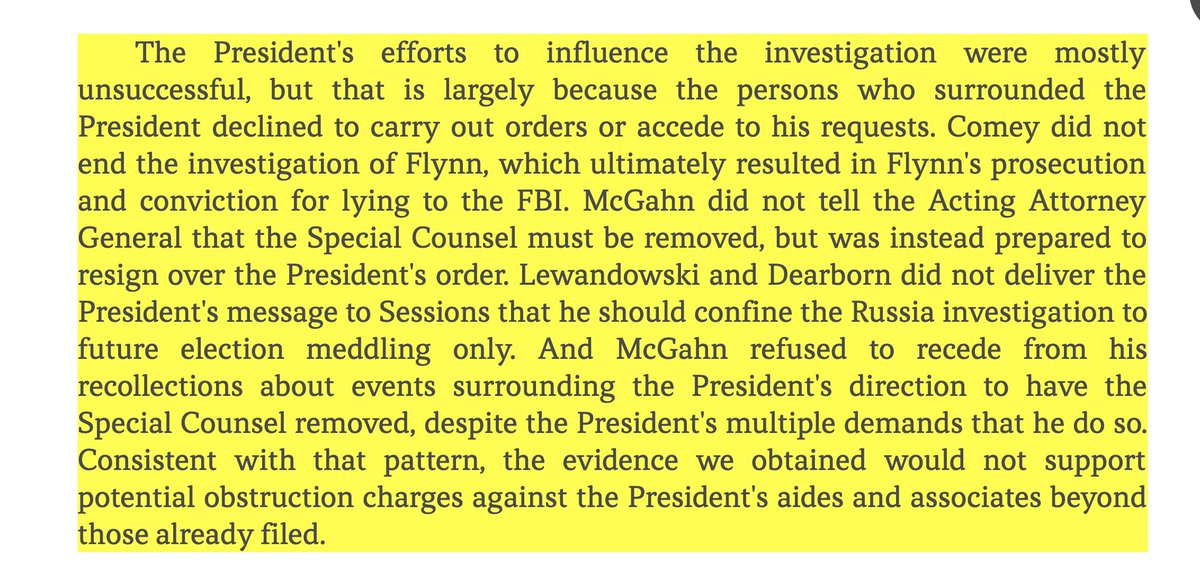 Hey did you know that your efforts to obstruct justice are still a crime even if you fail?  #MuellerTime  Straight out of the #MuellerReport. Boy, you tried so hard. <br>http://pic.twitter.com/oNzKjKDmgA