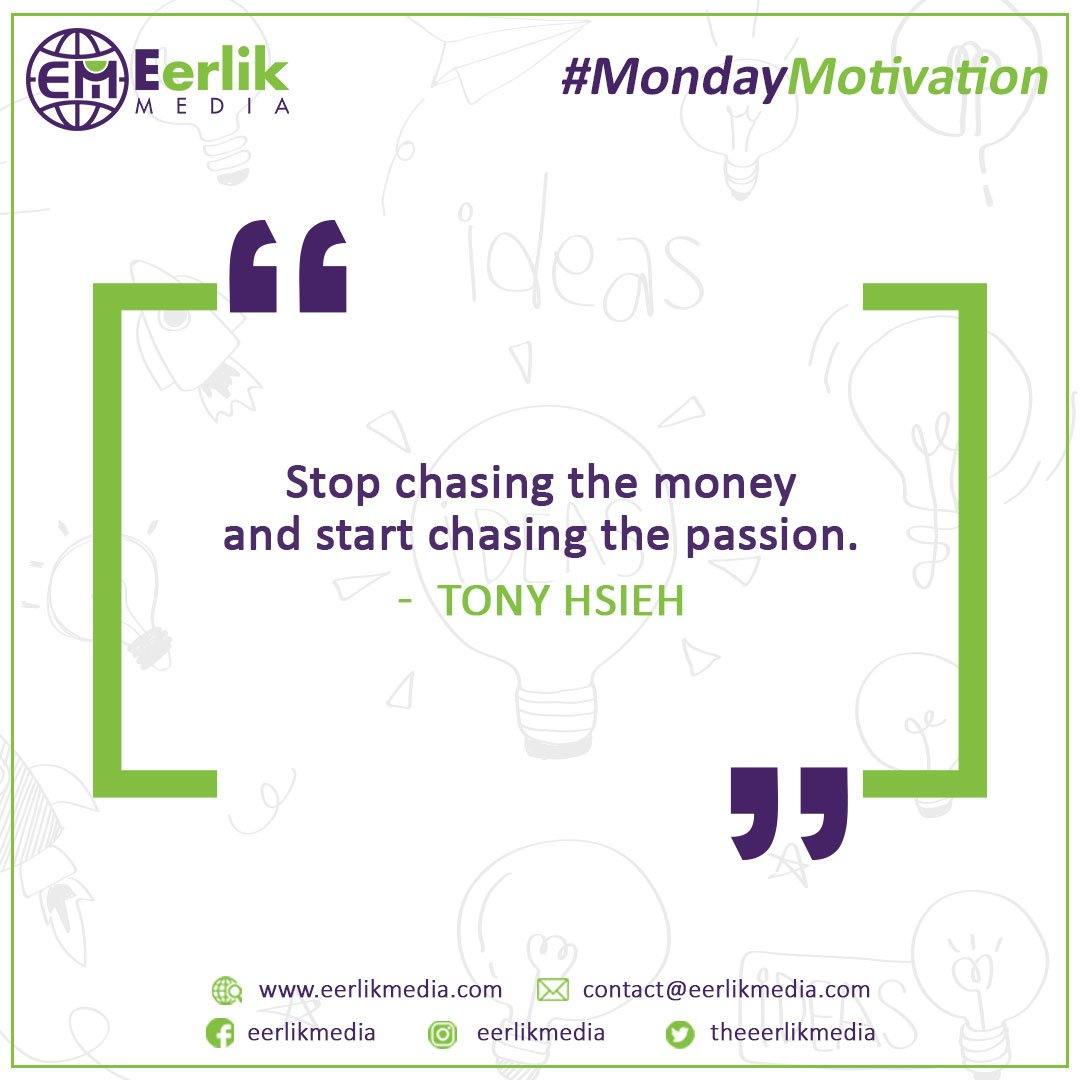 Live your passion. Run in the race with yourself.  #MondayMotivation #EerlikMedia