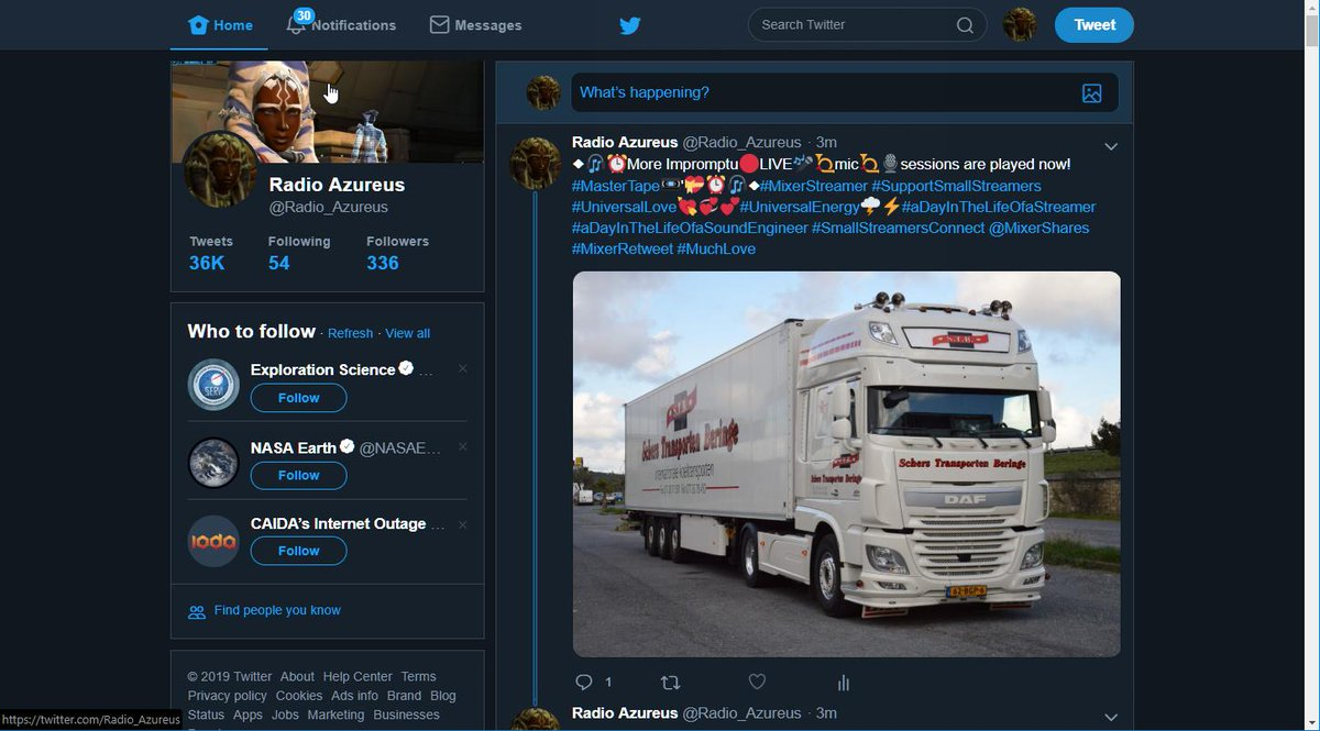 ◆🎧🌻🌼 💐I am just passing #30notifications which I'll process later🌸💐🌺🌻◆🎶🎧◆#MixerStreamer #SupportSmallStreamers #UniversalLove💘💞💕#UniversalEnergy🌩️⚡️#aDayInTheLifeOfaStreamer #aDayInTheLifeOfaSoundEngineer #SmallStreamersConnect @MixerShares #MixerRetweet #MuchLove
